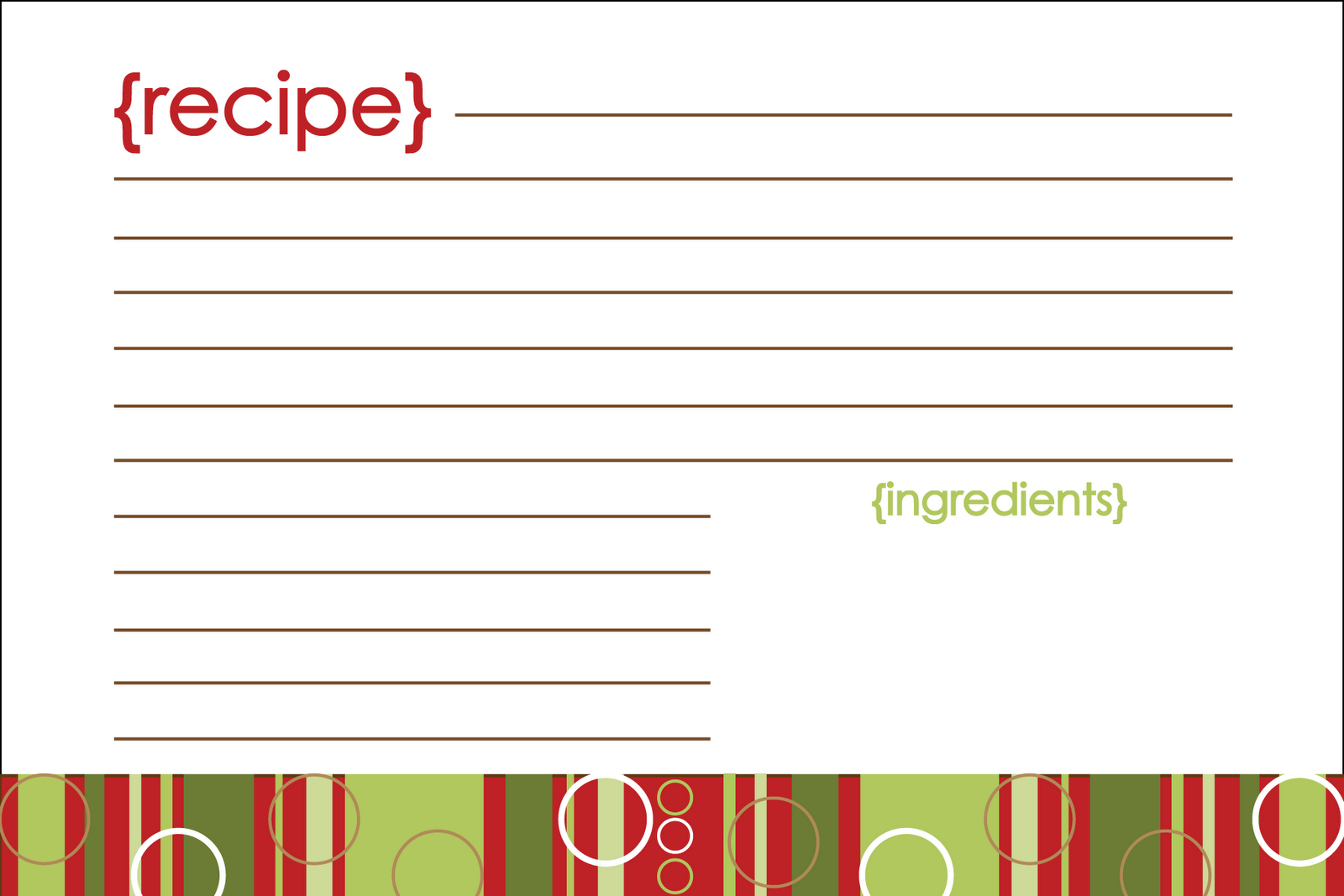 It's just a photo of Smart Printable Recipe Card