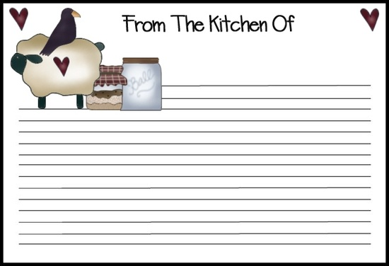 Printable Recipe Cards Pour Tea And Coffee Page 2