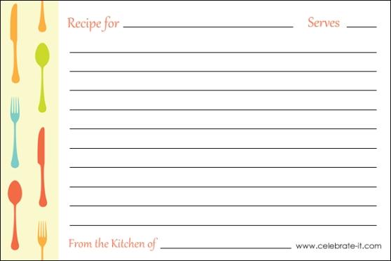 word 2013 recipe card | novaondafm